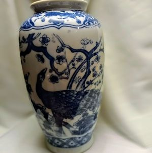 Japan blue and white vase.